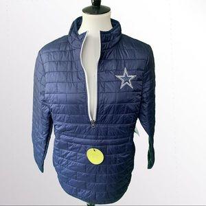 NWT $119 Dallas Cowboys Pullover Jacket